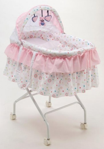 Portable Baby Bassinet with Soft Mattress and Pillow