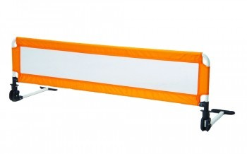 Extra long bed rail guard orange
