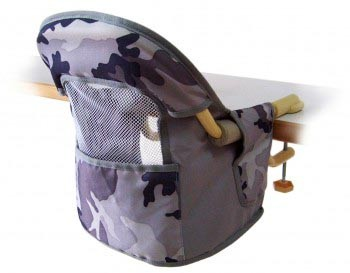 Foldable Baby Hook-On Dinning Chair with Mesh Back